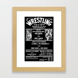 #1-B Memphis Wrestling Window Card Framed Art Print