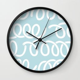 Something helical Blue Wall Clock