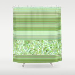 GRAPHIC POP - pastell green Shower Curtain