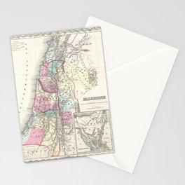 Old 1855 Historic State of Palestine Jerusalem Zion Map Stationery Cards