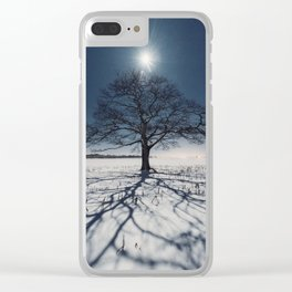 Winter Shadows Clear iPhone Case