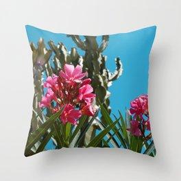 Cactus Floral Throw Pillow