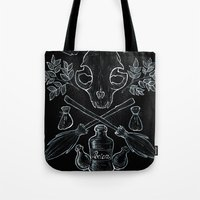 witchcraft Tote Bags featuring Witchcraft by Auberginen