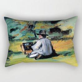 """Paul Cézanne """"A Painter at Work"""" Rectangular Pillow"""