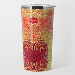 Autumn Rising -- Abstract in Fall Leaf Colors Travel Mug