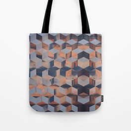 Tumbling Blocks (Sky Quilt 3) Tote Bag
