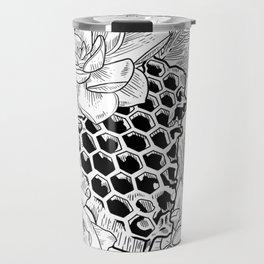 Succulents & Honeycomb Travel Mug