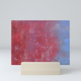 Lavender Blue and Red Abstract Mini Art Print