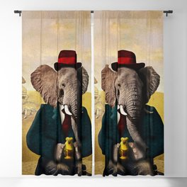 Mr. Preston J. Pachyderm visits the Sphinx Blackout Curtain