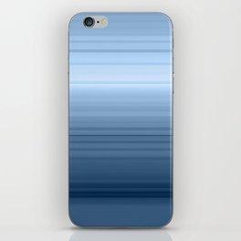 gradient , smoky, gray, blue , stripes iPhone Skin