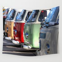 hippy Wall Tapestries featuring Hippy Vans by Barbo's Art