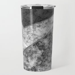 Combined abstract pattern in black and white . Travel Mug