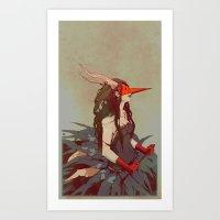 capricorn Art Prints featuring capricorn by derrewyn