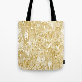 canadian animals gold white Tote Bag