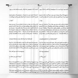 Pride and Prejudice Jane Austen white background Blackout Curtain