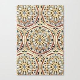 Mandala - Geometric marble Canvas Print