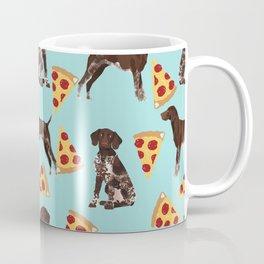 German Shorthair Pointer dog breed pet art pizza slices pattern design by pet friendly dog lovers Coffee Mug