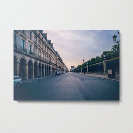 Sunset on a City Street in Paris Metal Print