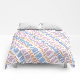 Delicate Pastel Lines Pattern Comforters