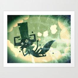 Nice day to disintegrate  Art Print