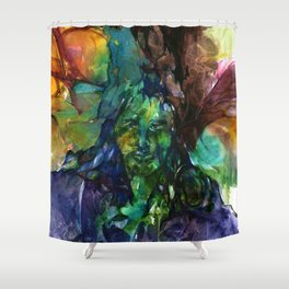 Green Man by Kathy Morton Stanion Shower Curtain