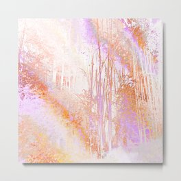 Psychedelic Forest (sunrise pastels) Metal Print