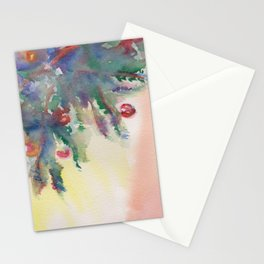 'A Little Holiday Cheer' Watercolor Painting Stationery Cards