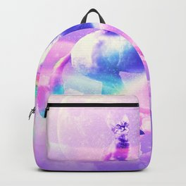 Kitty Cat Riding On Flying Unicorn With Rainbow Backpack