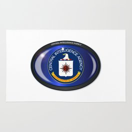 CIA Flag Oval Rug