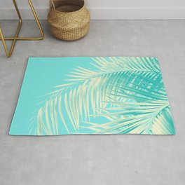 Palm Leaves Summer Vibes #4 #tropical #decor #art #society6 Rug