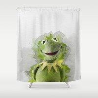 kermit Shower Curtains featuring Kermit by Gaboneto