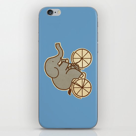 Elephant Cycle - colour option iPhone & iPod Skin