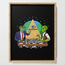 Alien Illuminati Conspiracy Serving Tray