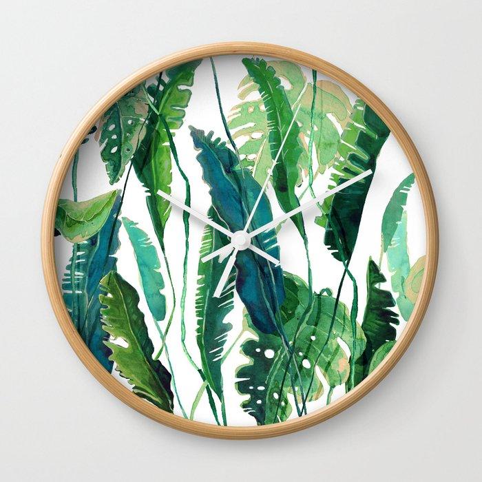 tropical compilation Wall Clock