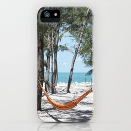 Relaxation in a hammock iPhone Case