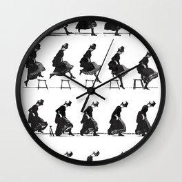 Woman Jumping Wall Clock