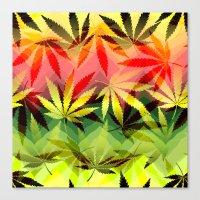 marijuana Canvas Prints featuring Marijuana by SpecialTees
