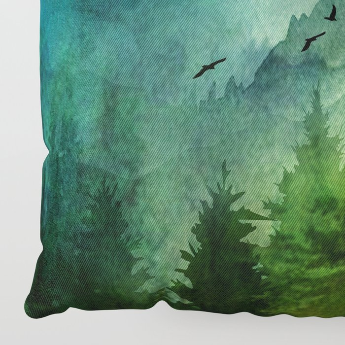 Mountain Morning Floor Pillow