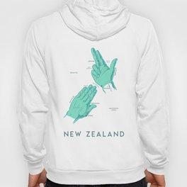 Handy New Zealand Map Hoody