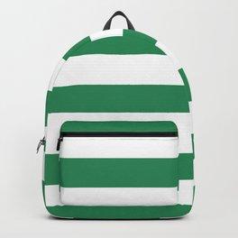 Aquamarine White Stripes I Minimalist Geometric Backpack