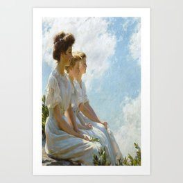On the Heights Charles Courtney Curran Vintage Poster Art Print