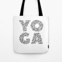 Yoga Shirt Spells Yoga Gift in Yogi Positions Tote Bag
