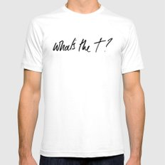 What's the t? White Mens Fitted Tee SMALL