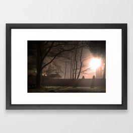 Suburban Fog Framed Art Print