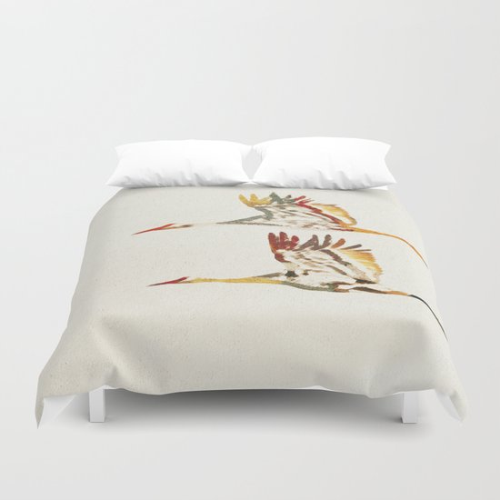 Due Uccelli Duvet Cover