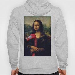 Mona Lisa and Her Flamingo Hoody