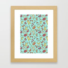 UNDERWEAR LOVE: Little Luxuries in Mint Framed Art Print