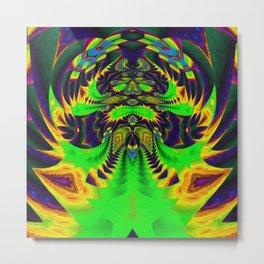 Rainbow Winged Serpent Metal Print