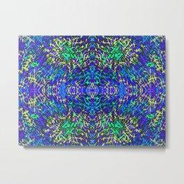 GrassWorld 2B Blue Yellow Ocean Metal Print