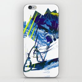 Climbing in the french Alps, alpinists iPhone Skin